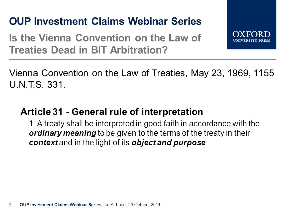 Applicable Law in Investment Arbitration Treaty as Contract?, Andrea K.
