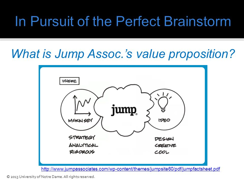 What is Jump Assoc.'s value proposition.