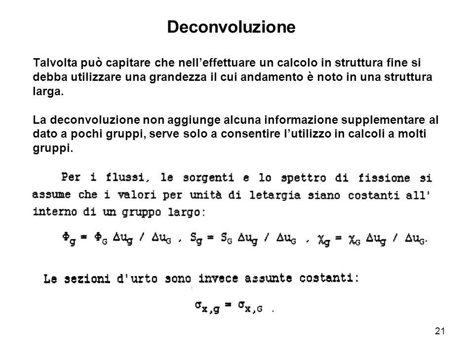 21 Talvolta può capitare che nell'effettuare un calcolo in struttura fine si debba utilizzare una grandezza il cui andamento è noto in una struttura l