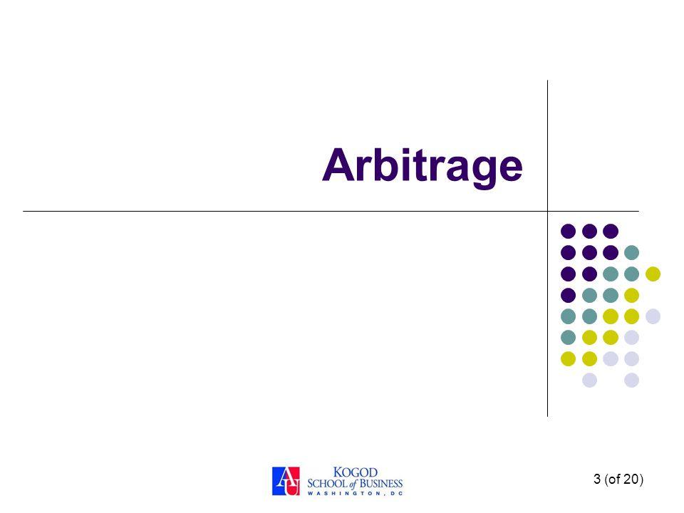 Arbitrage 3 (of 20)