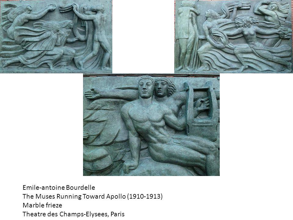 Emile-antoine Bourdelle The Muses Running Toward Apollo (1910-1913) Marble frieze Theatre des Champs-Elysees, Paris