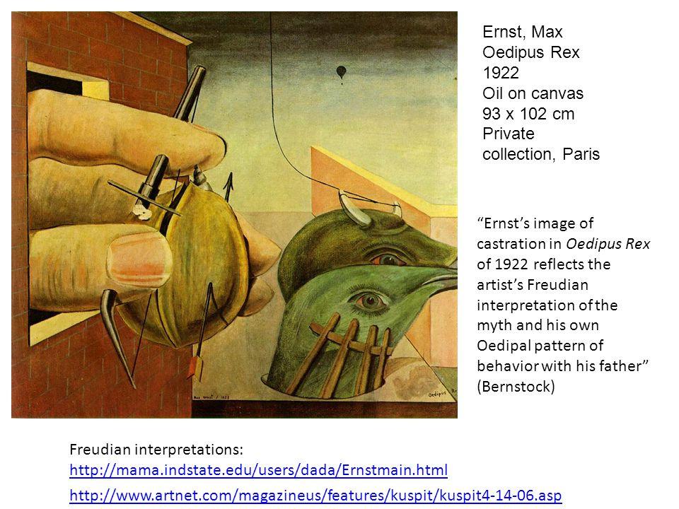 Ernst, Max Oedipus Rex 1922 Oil on canvas 93 x 102 cm Private collection, Paris http://www.artnet.com/magazineus/features/kuspit/kuspit4-14-06.asp Fre