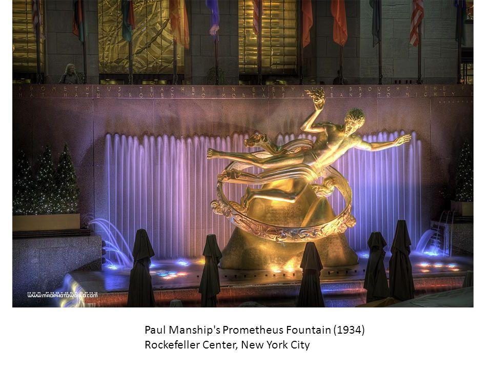 Paul Manship's Prometheus Fountain (1934) Rockefeller Center, New York City