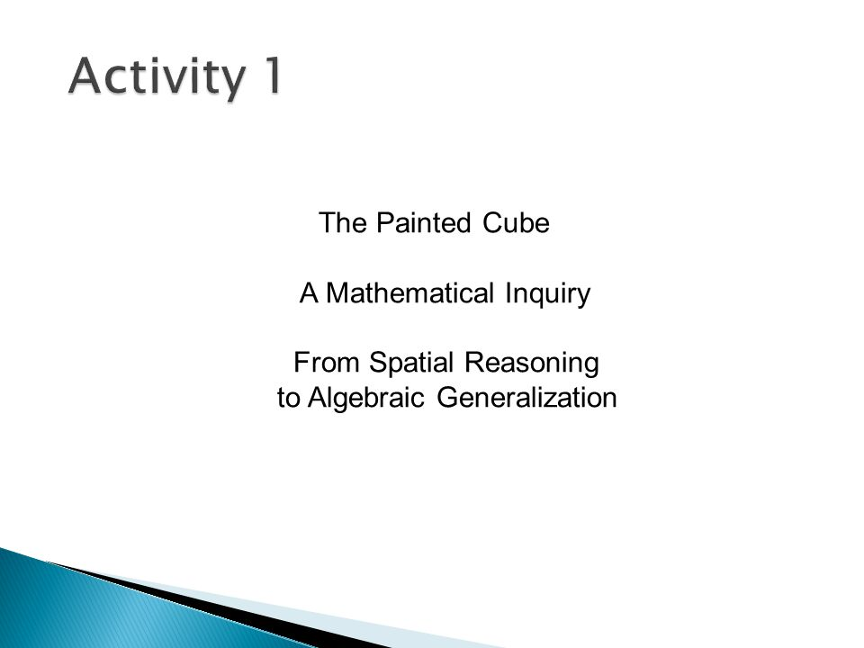 The Painted Cube A Mathematical Inquiry From Spatial Reasoning to Algebraic Generalization