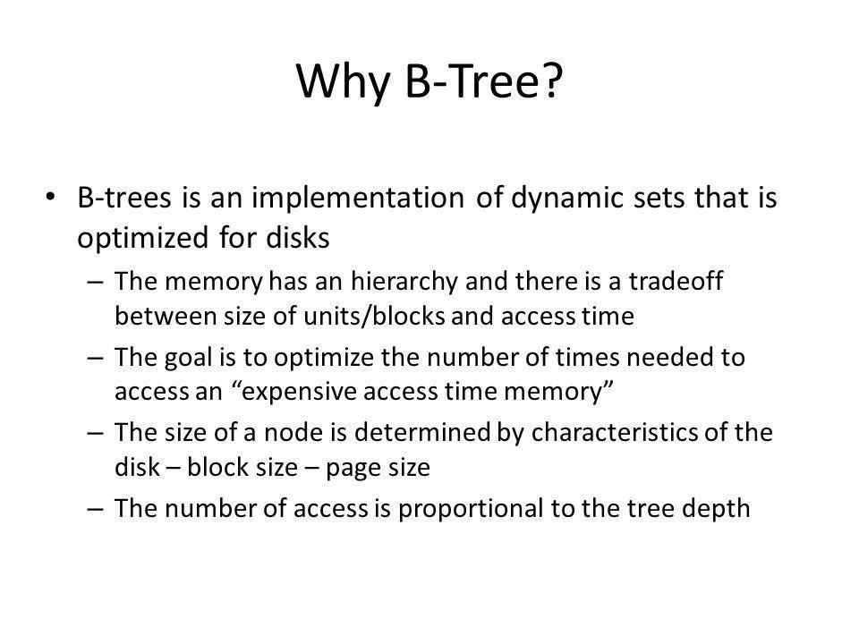 Why B-Tree.