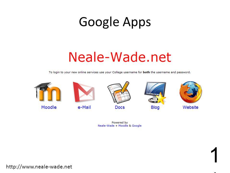 Google Apps 1 http://www.neale-wade.net