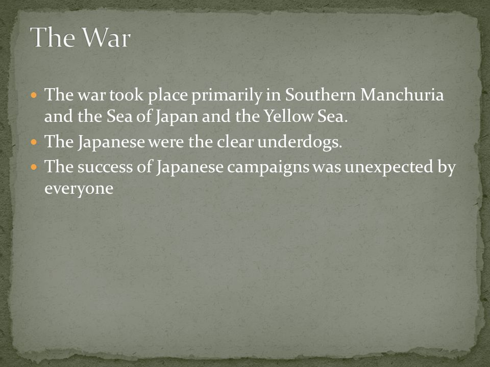The war began over the issues of Russian control of Manchuria and Japanese control of Korea, but by the end there were several additional issues that needed to be negotiated.