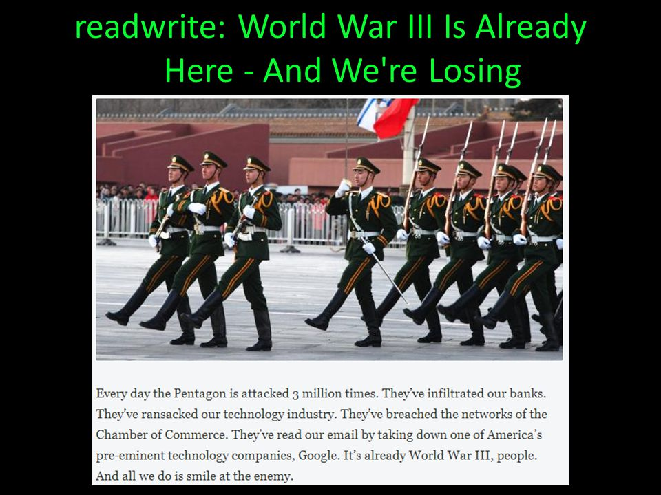 readwrite: World War III Is Already Here - And We re Losing