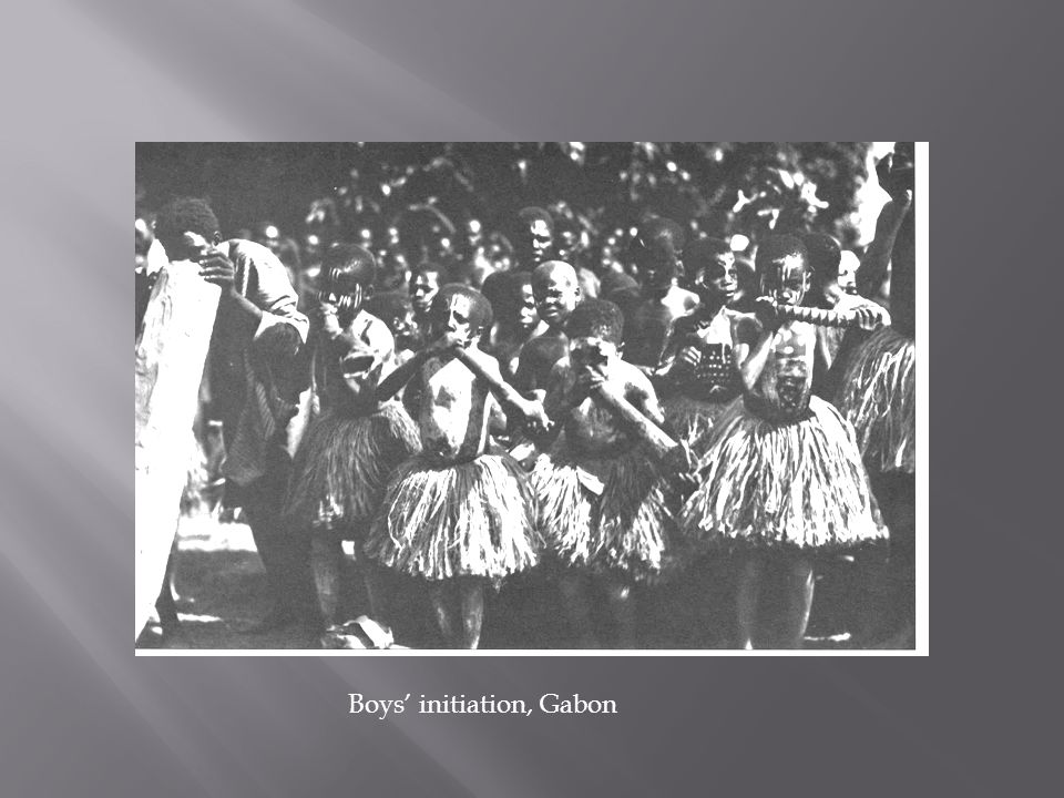 Boys' initiation, Gabon