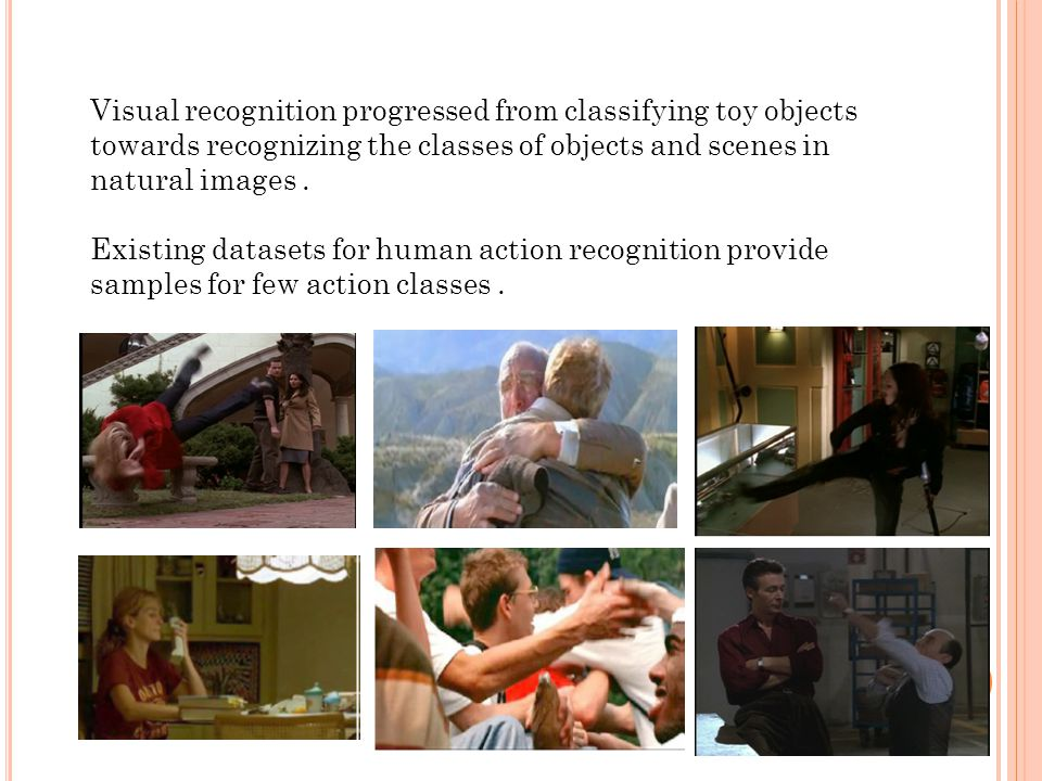 Visual recognition progressed from classifying toy objects towards recognizing the classes of objects and scenes in natural images.