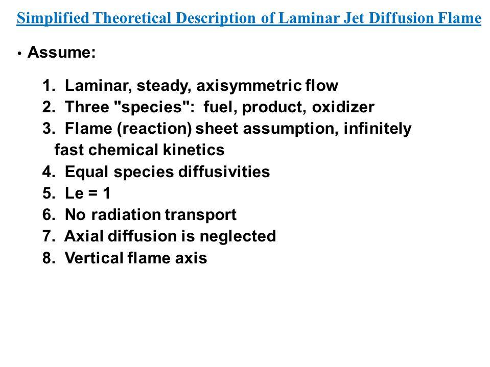 Assume: 1. Laminar, steady, axisymmetric flow 2. Three