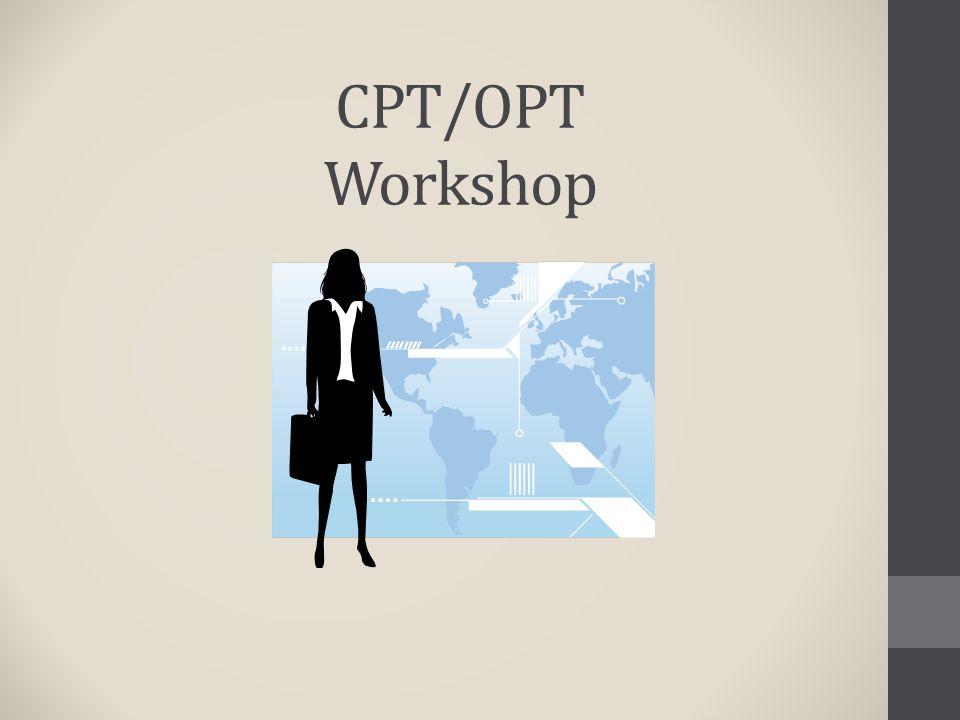CPT/OPT Workshop
