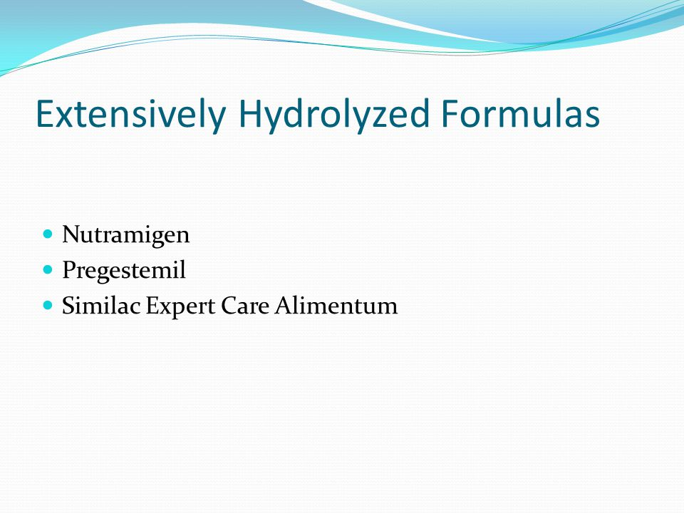 Extensively Hydrolyzed Formulas Nutramigen Pregestemil Similac Expert Care Alimentum