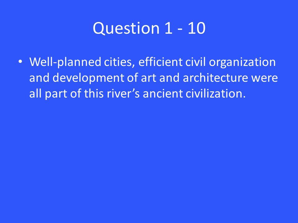 Answer 5 – 10 Ganges River
