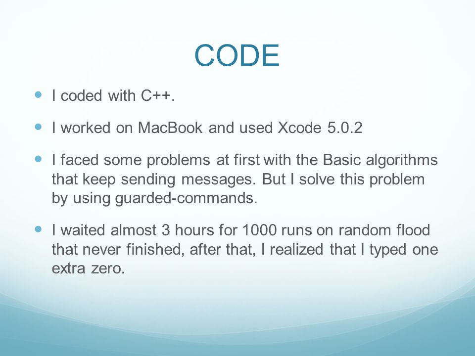 CODE I coded with C++.