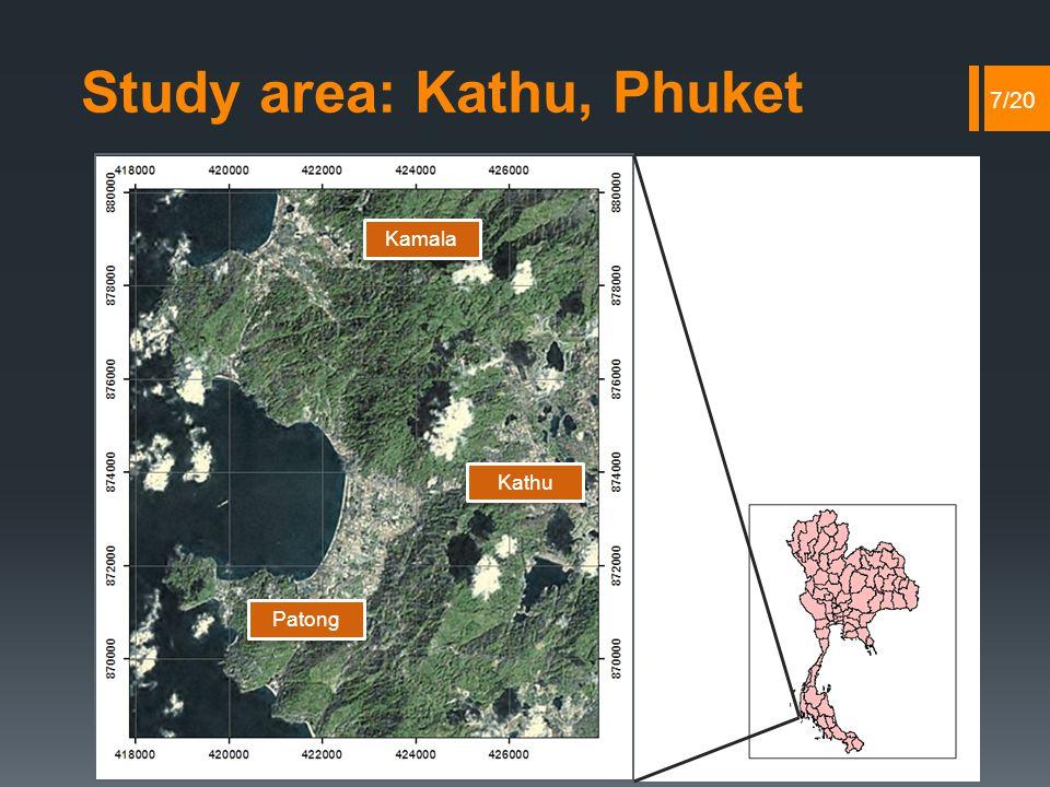 Study area: Kathu, Phuket 7/20 Kathu Kamala Patong
