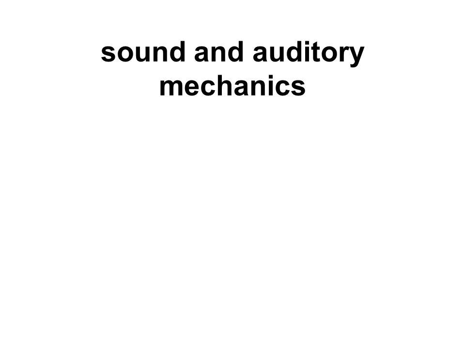 sound and auditory mechanics