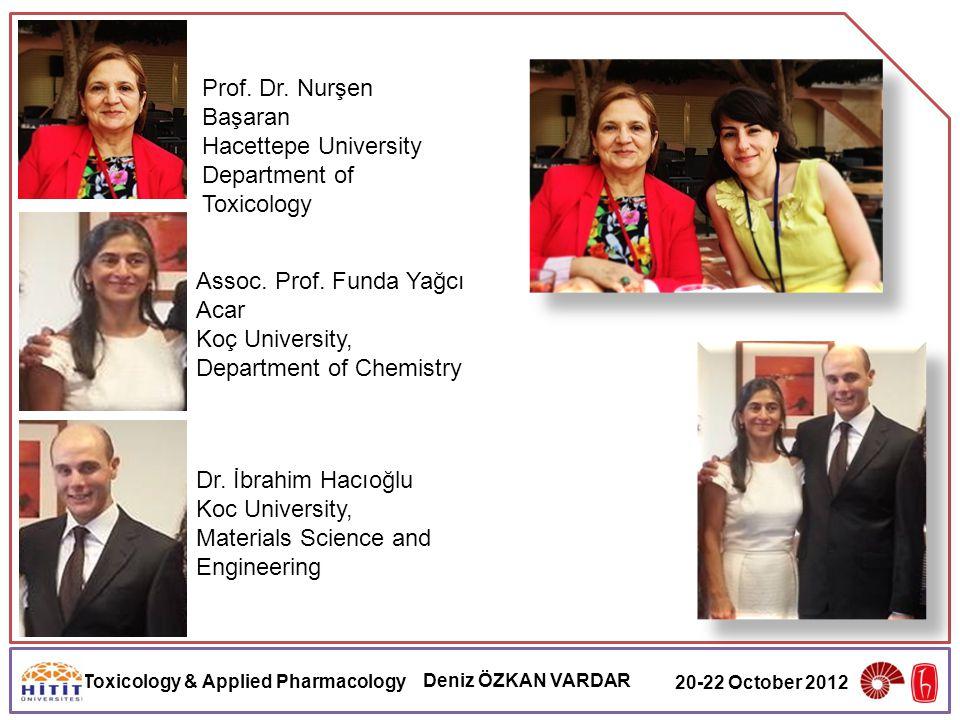 Toxicology & Applied Pharmacology Deniz ÖZKAN VARDAR 20-22 October 2012 Prof.
