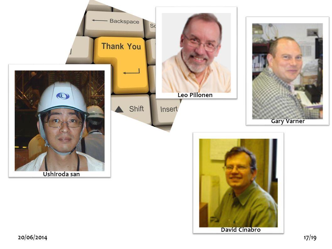 Ushiroda san Leo Piilonen David Cinabro 20/06/201417/19 Gary Varner