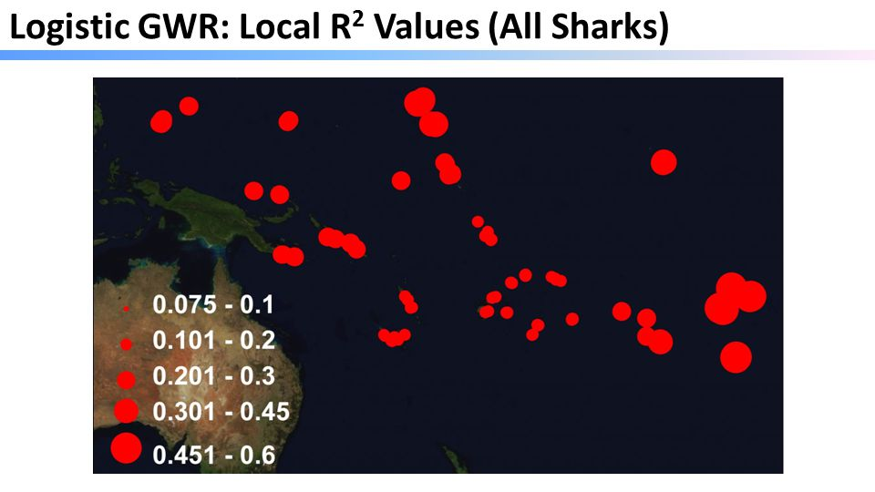 Logistic GWR: Local R 2 Values (All Sharks)