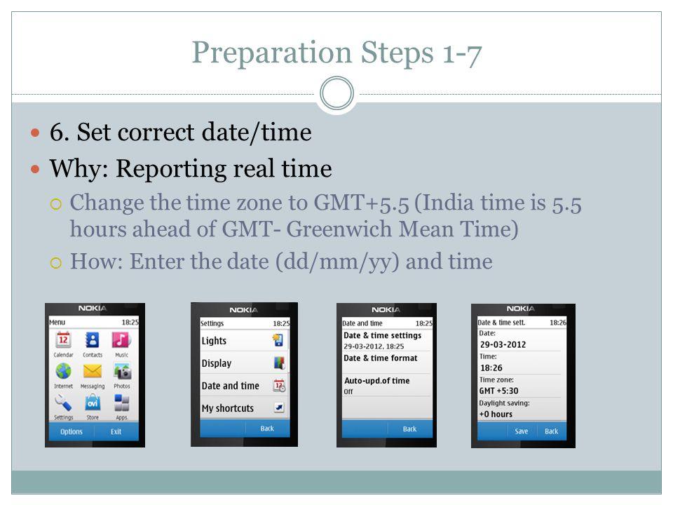 Preparation Steps 1-7 6.