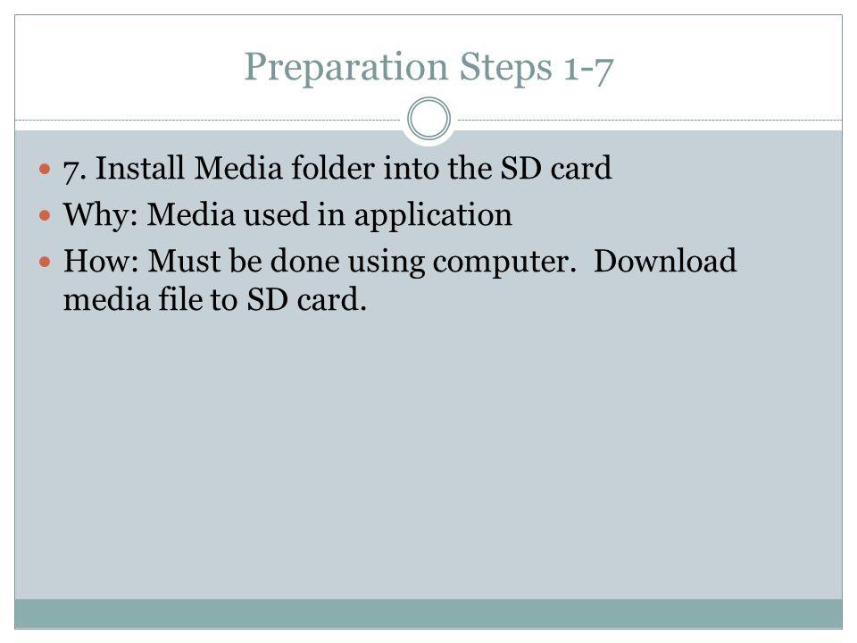 Preparation Steps 1-7 7.