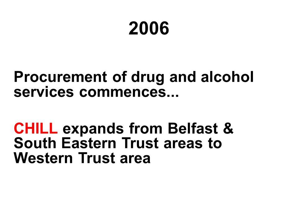 2006 Procurement of drug and alcohol services commences...