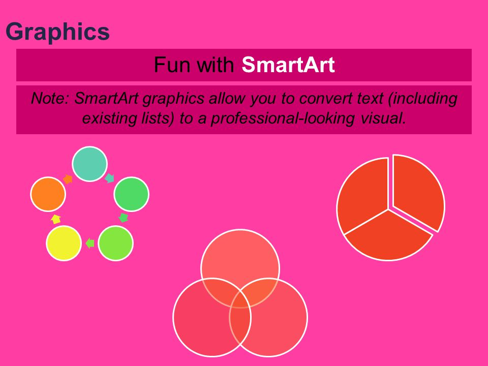 Fun with shapes Hello! Note: When you choose a shape tool, the mouse pointer changes to a cross hair that you can use to draw the shape. Graphics