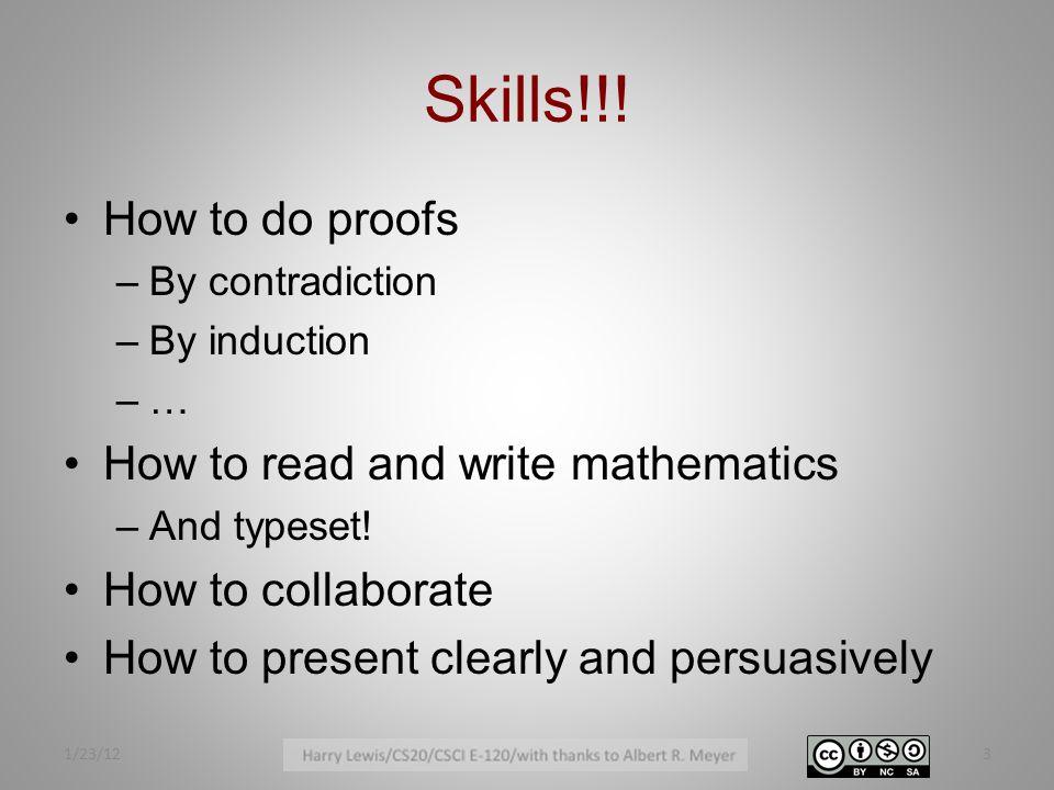 Skills!!.