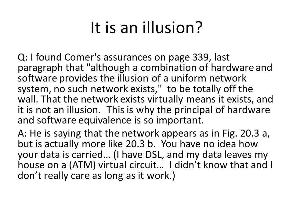 It is an illusion.