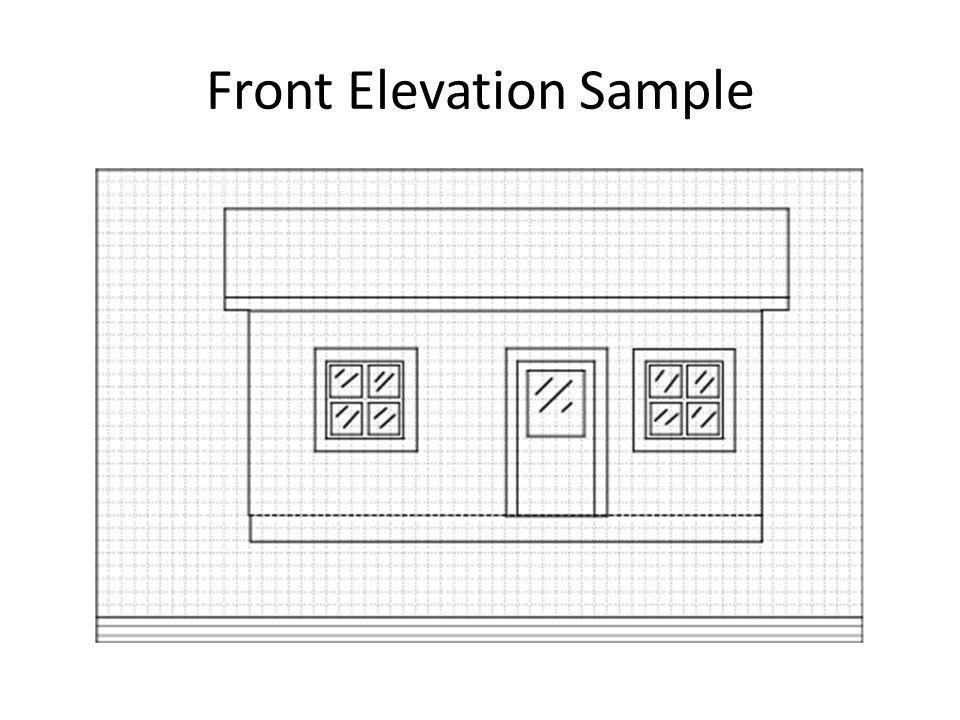 Front Elevation Sample