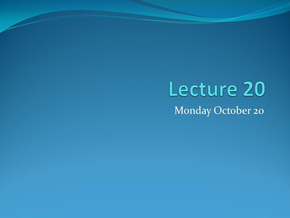 Monday October 20