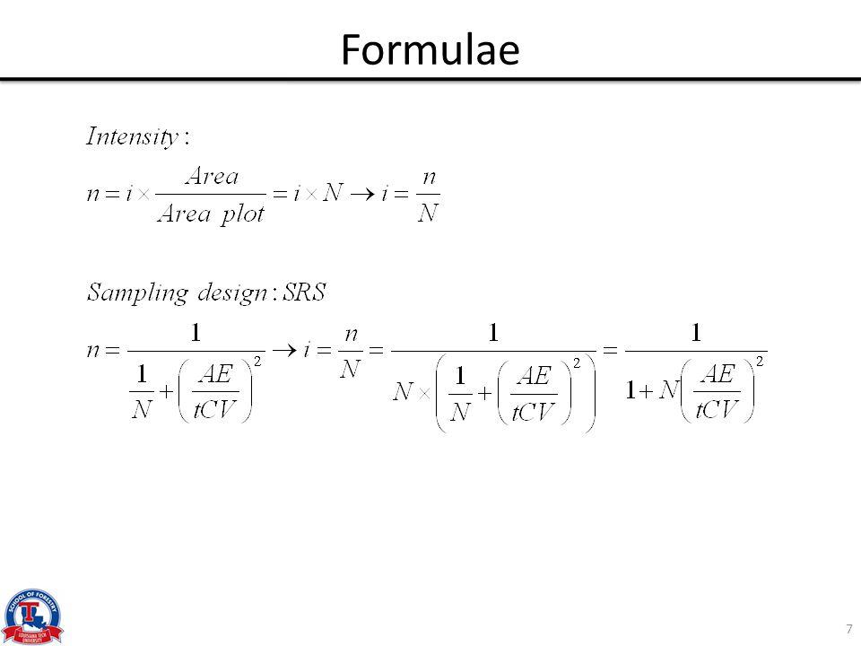 Sample size vs. CV Area=10 ac 8
