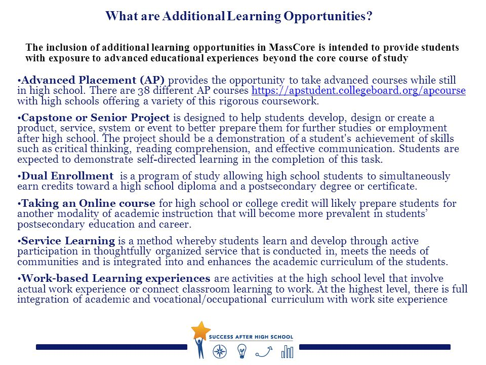 What are Additional Learning Opportunities.
