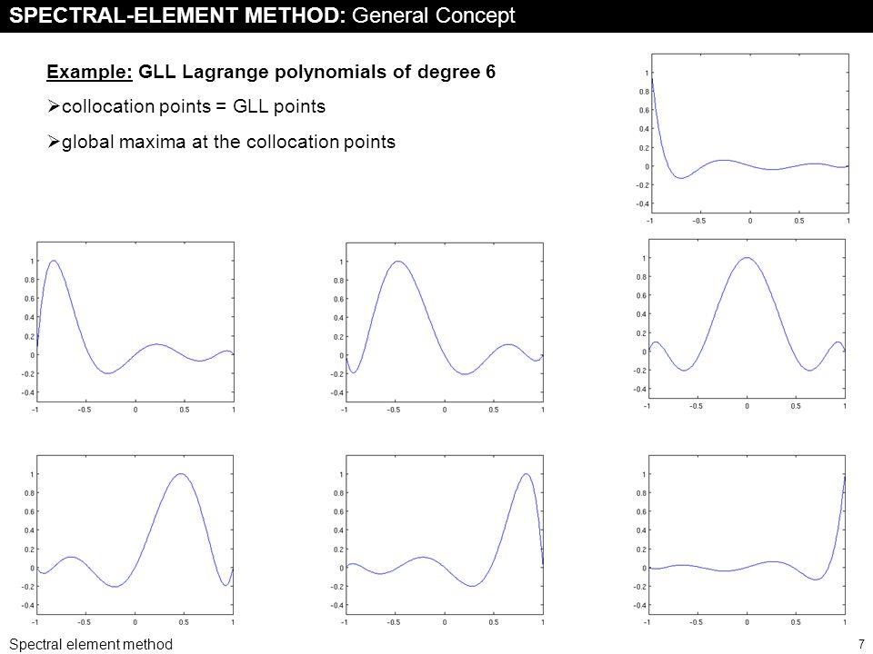 Spectral element method 8 The SE system Diagonal mass matrix M