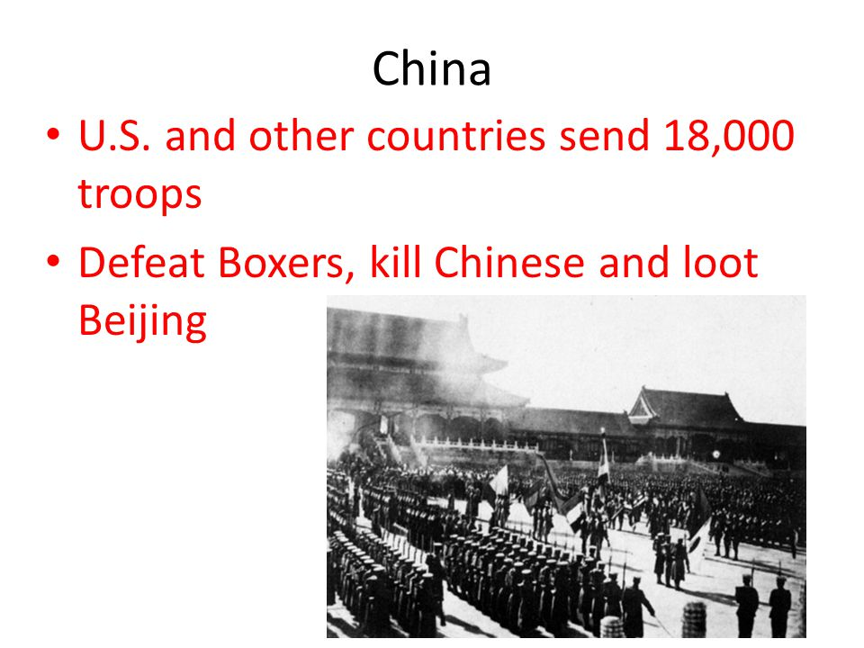 China U.S. and other countries send 18,000 troops Defeat Boxers, kill Chinese and loot Beijing