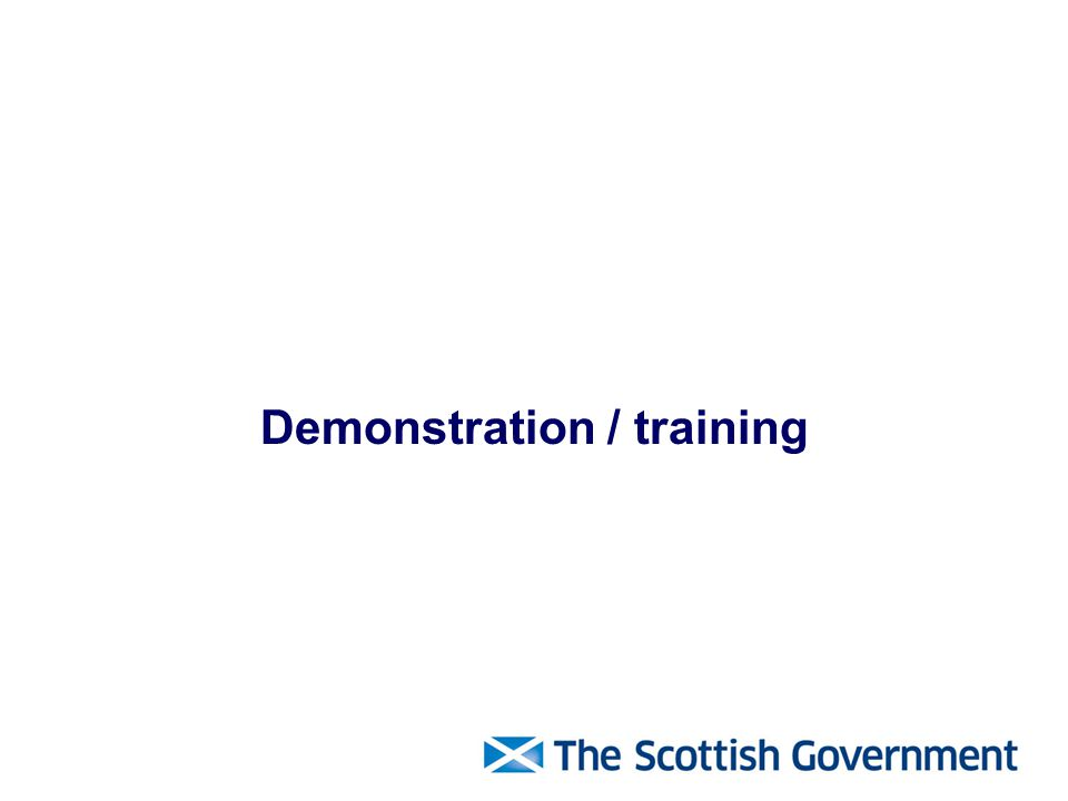 Demonstration / training