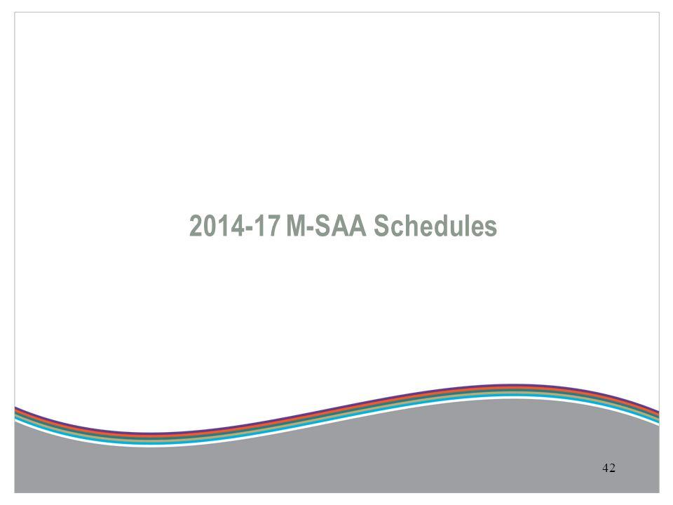 42 2014-17 M-SAA Schedules