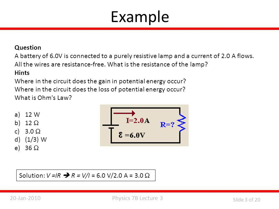 Physics 7B Lecture 320-Jan-2010 Slide 14 of 20 Heat Conduction – Fourier's Law Thermal conductivity, k, is the property of a material that indicates its ability to conduct heat.