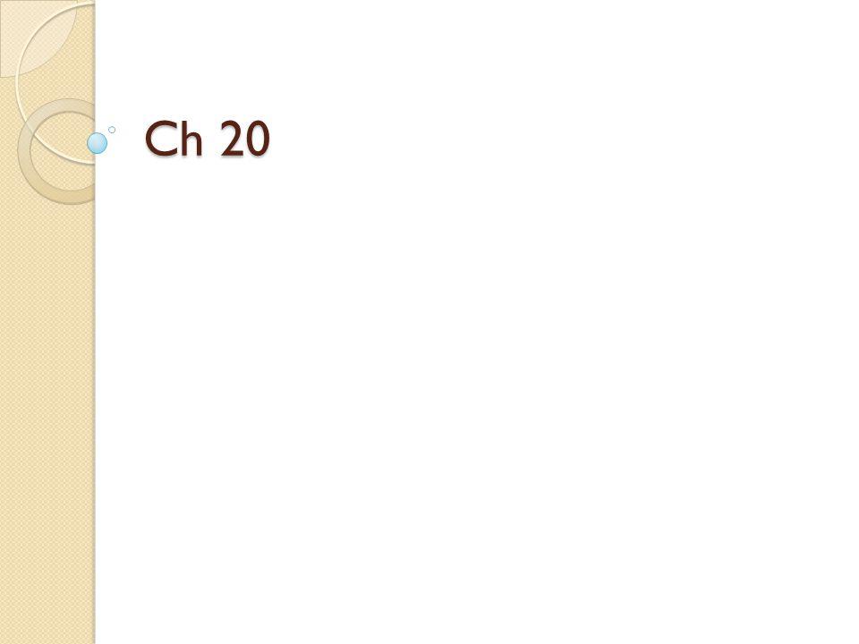Ch 20
