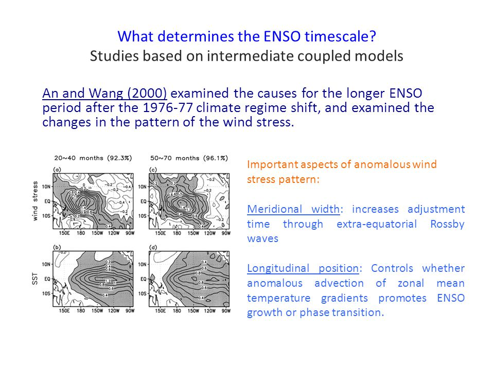 What determines the ENSO timescale.