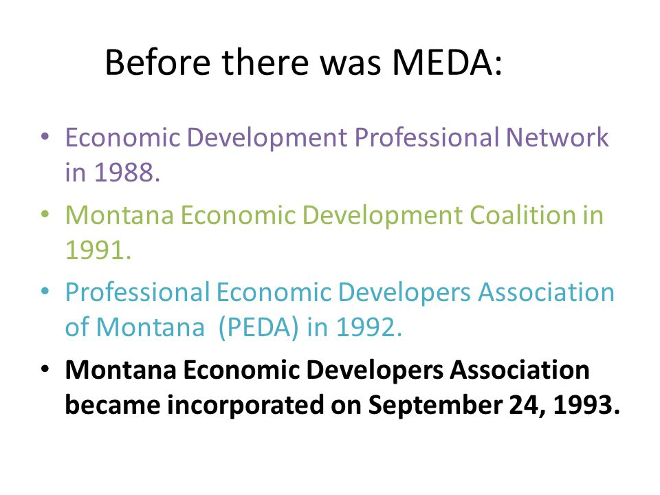 Before there was MEDA: Economic Development Professional Network in 1988.