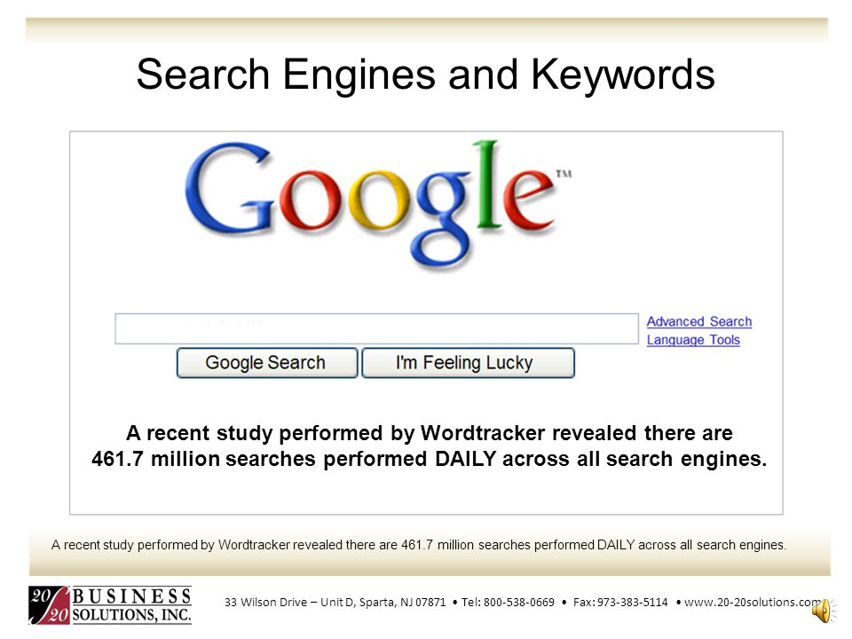 Search Engines and Keywords SEO can also target different kinds of search, including image search, local search, and industry specific vertical search engines.