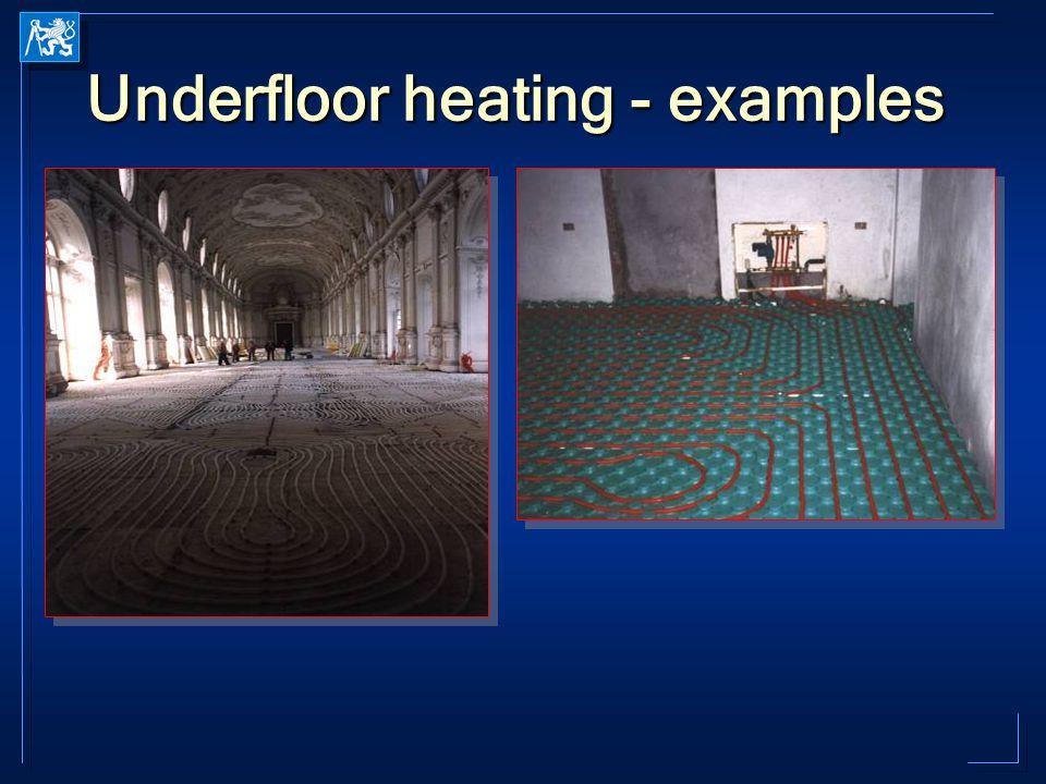 Underfloor heating - examples