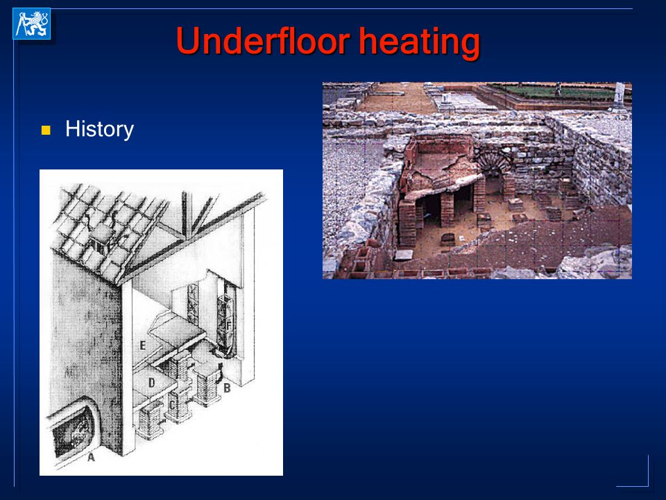 Underfloor heating History