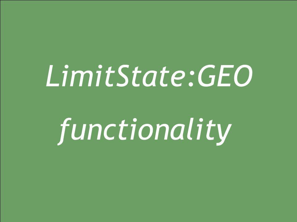 12/01/2015 geo1.0 LimitState:GEO functionality