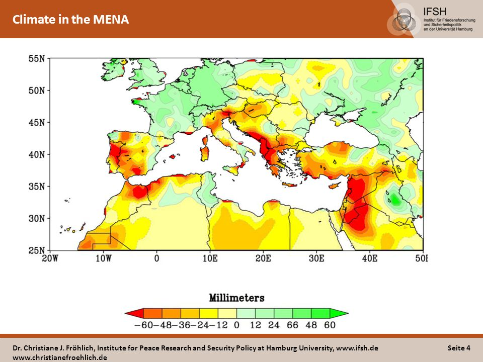 Climate in the MENA Dr. Christiane J.