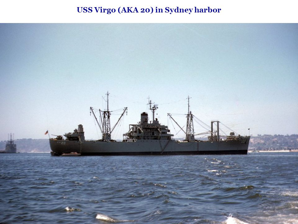 USS Virgo (AKA 20) in Sydney harbor