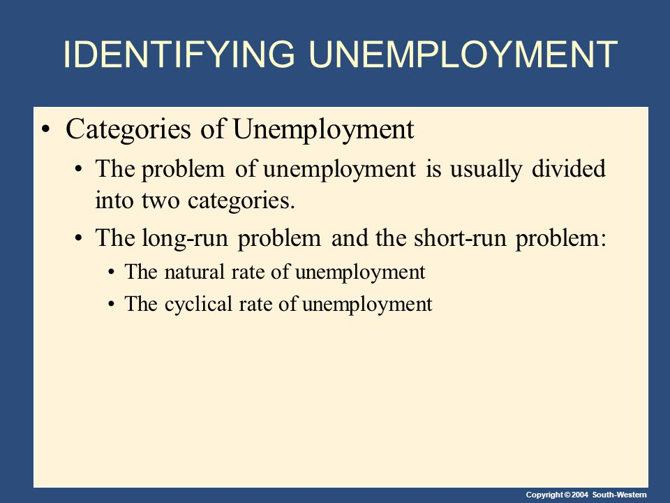 Copyright © 2004 South-Western Public Policy and Job Search Why is there Structural Unemployment.