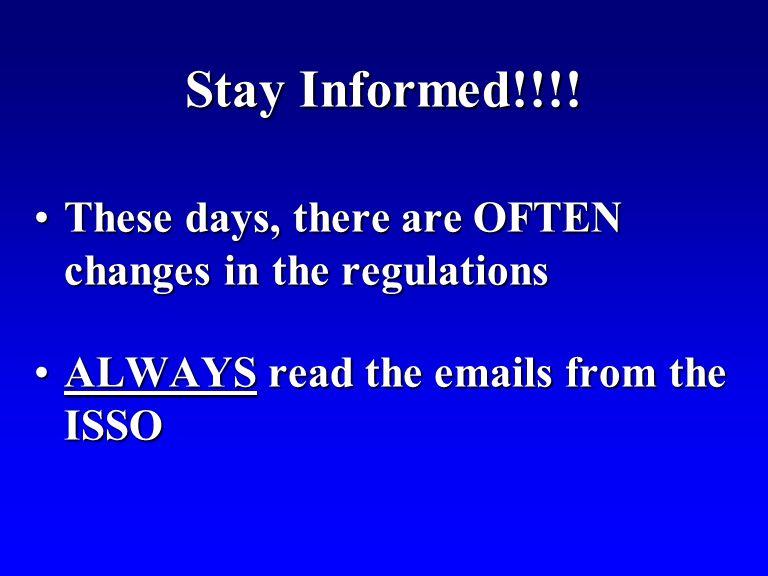 Stay Informed!!!.